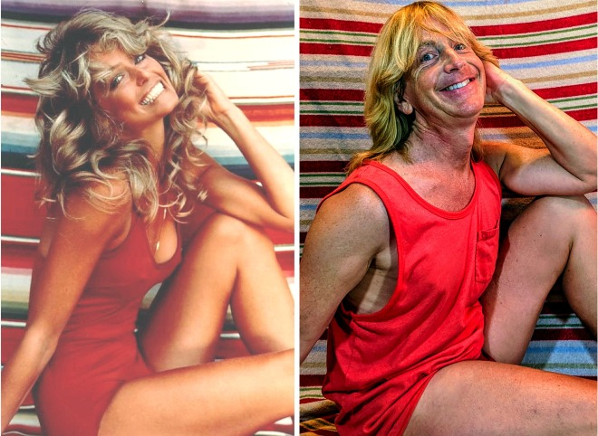 Farrah Fawcett and Brian Hutzell